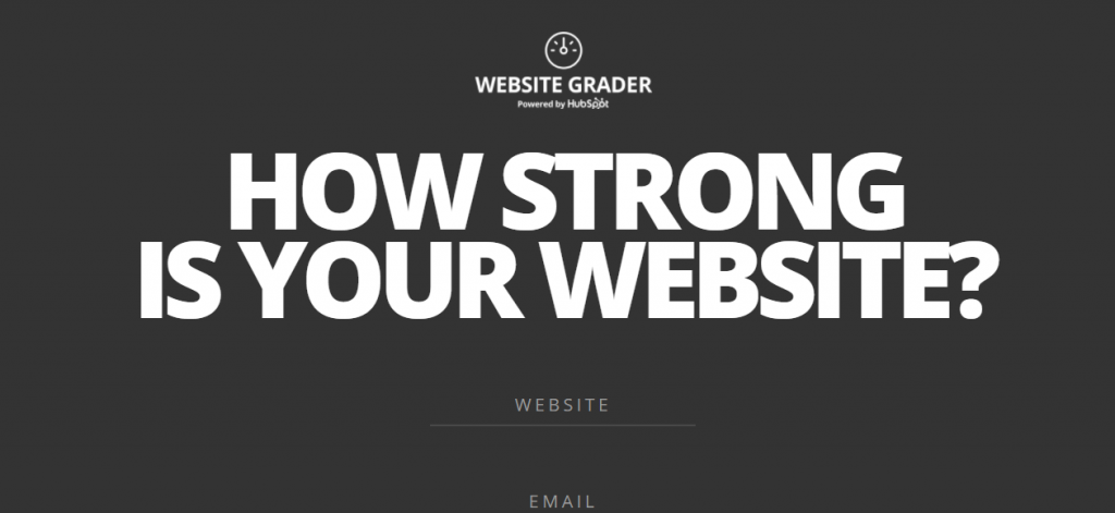 Strategi marketing website grader