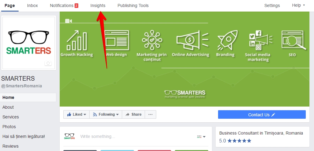Facebook Insights SMARTERS